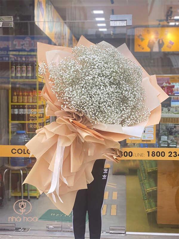 Bó Hoa Baby Trắng Bigsize Nhập Khẩu
